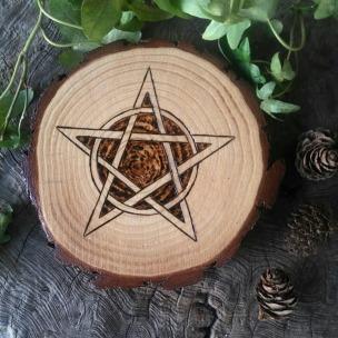 Rustic Pine Altar Paten